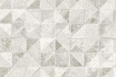 6456 cikkszámú tapéta.Absztrakt,geometriai mintás,különleges felületű,szürke,zöld,lemosható,vlies tapéta