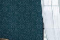 6466 cikkszámú tapéta.Különleges felületű,különleges motívumos,metál-fényes,kék,lemosható,vlies tapéta