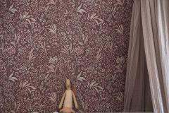 7268 cikkszámú tapéta.Különleges felületű,rajzolt,virágmintás,bézs-drapp,piros-bordó,lemosható,vlies tapéta