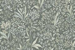 7270 cikkszámú tapéta.Különleges felületű,rajzolt,virágmintás,vajszín,zöld,lemosható,vlies tapéta
