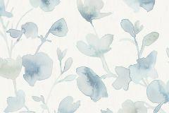 7280 cikkszámú tapéta.Különleges felületű,virágmintás,fehér,kék,lemosható,vlies tapéta