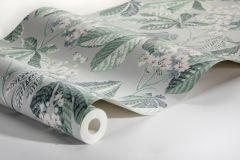 7202 cikkszámú tapéta.Különleges felületű,rajzolt,természeti mintás,virágmintás,fehér,szürke,vajszín,zöld,lemosható,vlies tapéta