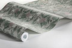 7203 cikkszámú tapéta.Különleges felületű,rajzolt,természeti mintás,virágmintás,barna,fehér,szürke,zöld,lemosható,vlies tapéta