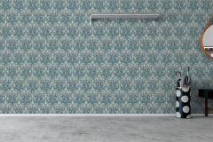 7204 cikkszámú tapéta.Különleges felületű,rajzolt,természeti mintás,virágmintás,fehér,kék,piros-bordó,szürke,zöld,lemosható,vlies tapéta