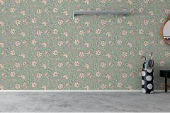 7209 cikkszámú tapéta.Különleges felületű,különleges motívumos,rajzolt,virágmintás,barna,ezüst,fehér,piros-bordó,zöld,lemosható,vlies tapéta