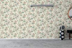 7211 cikkszámú tapéta.Különleges felületű,rajzolt,természeti mintás,virágmintás,bézs-drapp,vajszín,zöld,lemosható,vlies tapéta