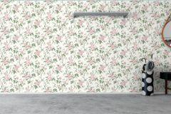 7212 cikkszámú tapéta.Különleges felületű,rajzolt,természeti mintás,pink-rózsaszín,vajszín,zöld,lemosható,vlies tapéta