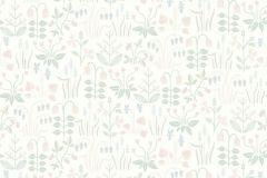 7217 cikkszámú tapéta.Különleges felületű,rajzolt,természeti mintás,virágmintás,fehér,kék,pink-rózsaszín,zöld,lemosható,vlies tapéta
