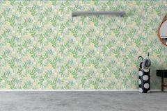 7220 cikkszámú tapéta.Különleges felületű,rajzolt,természeti mintás,virágmintás,kék,sárga,szürke,zöld,lemosható,vlies tapéta