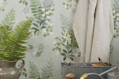7221 cikkszámú tapéta.Különleges felületű,rajzolt,természeti mintás,virágmintás,narancs-terrakotta,vajszín,zöld,lemosható,vlies tapéta