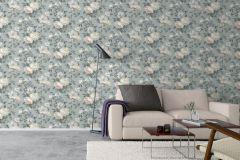7224 cikkszámú tapéta.Különleges felületű,rajzolt,természeti mintás,virágmintás,kék,pink-rózsaszín,szürke,vajszín,lemosható,vlies tapéta