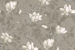 7227 cikkszámú tapéta.Különleges felületű,rajzolt,természeti mintás,virágmintás,barna,bézs-drapp,vajszín,lemosható,vlies tapéta