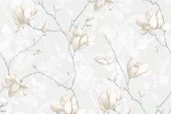 7229 cikkszámú tapéta.Különleges felületű,rajzolt,természeti mintás,virágmintás,bézs-drapp,szürke,vajszín,lemosható,vlies tapéta