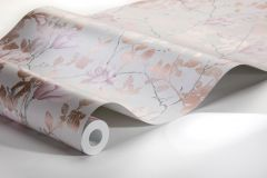 7230 cikkszámú tapéta.Különleges felületű,rajzolt,természeti mintás,virágmintás,pink-rózsaszín,szürke,vajszín,lemosható,vlies tapéta