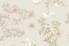 7231 cikkszámú tapéta.Különleges felületű,rajzolt,természeti mintás,virágmintás,arany,bézs-drapp,vajszín,lemosható,vlies tapéta