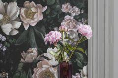 7234 cikkszámú tapéta.Fotórealisztikus,különleges felületű,rajzolt,természeti mintás,virágmintás,fekete,pink-rózsaszín,vajszín,zöld,lemosható,vlies tapéta