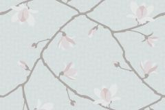 5450 cikkszámú tapéta.Természeti mintás,virágmintás,barna,fehér,kék,pink-rózsaszín,lemosható,vlies tapéta