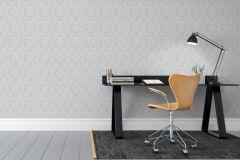 5461 cikkszámú tapéta.Barokk-klasszikus,fekete,szürke,lemosható,vlies tapéta