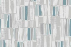 5470 cikkszámú tapéta.Absztrakt,geometriai mintás,retro,bézs-drapp,fehér,kék,lila,szürke,türkiz,lemosható,vlies tapéta