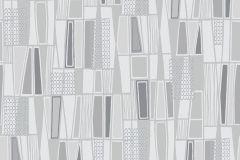 5473 cikkszámú tapéta.Absztrakt,geometriai mintás,retro,fekete,lemosható,vlies tapéta