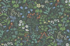 5474 cikkszámú tapéta.Rajzolt,retro,természeti mintás,virágmintás,fehér,fekete,kék,piros-bordó,sárga,zöld,gyengén mosható,vlies tapéta
