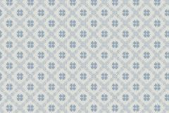 5483 cikkszámú tapéta.Geometriai mintás,kockás,virágmintás,kék,szürke,lemosható,vlies tapéta