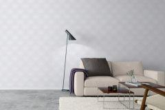 5493 cikkszámú tapéta.Geometriai mintás,rajzolt,virágmintás,ezüst,fehér,lemosható,vlies tapéta