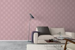 5494 cikkszámú tapéta.Geometriai mintás,rajzolt,virágmintás,barna,pink-rózsaszín,lemosható,vlies tapéta
