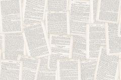 1882 cikkszámú tapéta.Feliratos-számos,különleges motívumos,bézs-drapp,fehér,fekete,szürke,lemosható,vlies tapéta