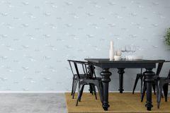 8856 cikkszámú tapéta.állatok,különleges felületű,különleges motívumos,rajzolt,természeti mintás,fehér,kék,lemosható,vlies tapéta