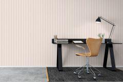 8869 cikkszámú tapéta.Csíkos,különleges felületű,fehér,narancs-terrakotta,lemosható,illesztés mentes,vlies tapéta