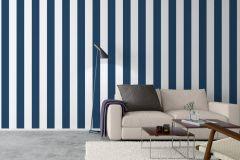 8878 cikkszámú tapéta.Csíkos,különleges felületű,fehér,kék,lemosható,illesztés mentes,vlies tapéta