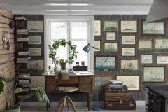 8887 cikkszámú tapéta.Fa hatású-fa mintás,természeti mintás,barna,kék,szürke,zöld,lemosható,vlies tapéta