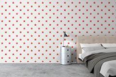 2979 cikkszámú tapéta.Geometriai mintás,gyerek,szürke,piros-bordó,pink-rózsaszín,gyengén mosható,vlies  tapéta