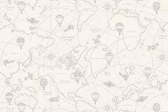 7457 cikkszámú tapéta.Gyerek,különleges motívumos,rajzolt,bézs-drapp,szürke,lemosható,vlies tapéta