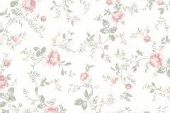 7464 cikkszámú tapéta.Barokk-klasszikus,gyerek,természeti mintás,virágmintás,piros-bordó,vajszín,zöld,lemosható,vlies tapéta