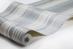6860 cikkszámú tapéta.Csíkos,textilmintás,bézs-drapp,fehér,kék,szürke,lemosható,illesztés mentes,vlies tapéta