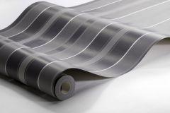 6875 cikkszámú tapéta.Csíkos,különleges felületű,ezüst,fekete,szürke,lemosható,illesztés mentes,vlies tapéta