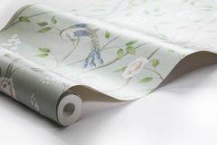 1903 cikkszámú tapéta.állatok,különleges felületű,rajzolt,természeti mintás,virágmintás,kék,pink-rózsaszín,zöld,lemosható,vlies tapéta