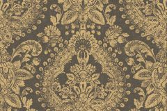1915 cikkszámú tapéta.Barokk-klasszikus,különleges felületű,metál-fényes,barna,lemosható,vlies tapéta