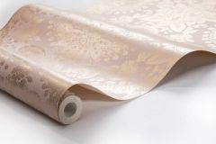 1917 cikkszámú tapéta.Barokk-klasszikus,különleges felületű,metál-fényes,arany,pink-rózsaszín,lemosható,vlies tapéta