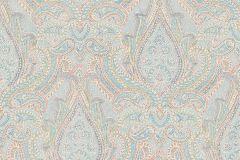 1919 cikkszámú tapéta.Barokk-klasszikus,különleges felületű,rajzolt,fehér,kék,narancs-terrakotta,zöld,lemosható,vlies tapéta