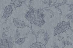1926 cikkszámú tapéta.Különleges felületű,rajzolt,virágmintás,kék,lemosható,vlies tapéta