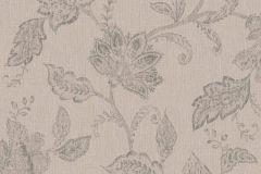 1928 cikkszámú tapéta.Különleges felületű,rajzolt,virágmintás,barna,bézs-drapp,lemosható,vlies tapéta