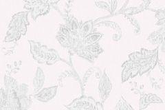 1930 cikkszámú tapéta.Különleges felületű,rajzolt,virágmintás,szürke,lemosható,vlies tapéta