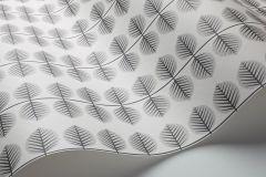 1751 cikkszámú tapéta.Retro,természeti mintás,fehér,fekete,szürke,lemosható,vlies tapéta
