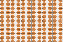 1754 cikkszámú tapéta.Retro,természeti mintás,fehér,narancs-terrakotta,szürke,lemosható,vlies tapéta