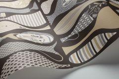 1758 cikkszámú tapéta.Különleges motívumos,retro,barna,fehér,szürke,lemosható,vlies tapéta