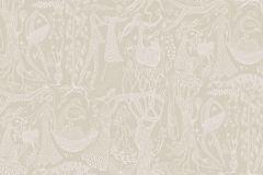 1763 cikkszámú tapéta.Emberek-sztárok,különleges motívumos,rajzolt,retro,bézs-drapp,fehér,lemosható,vlies tapéta