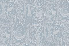 1765 cikkszámú tapéta.Emberek-sztárok,különleges motívumos,rajzolt,retro,fehér,kék,lemosható,vlies tapéta